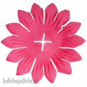 Детали для изготовления цветов, р-р ок. 65мм, цвет ярко-розовый