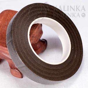 Лента флористическая, тейп-лента, ширина 1/2 дюйма, длина 30 ярдов, цвет коричневый