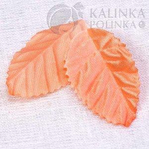 Лист из ткани, р-р ок. 35мм, цвет светло-абрикосовый, в 2 гр. ок. 40шт., Лист из ткани, р-р ок. 35мм, цвет светло-абрикосовый, в 6 гр ок. 120 шт., Лист из ткани, р-р ок. 35мм, цвет светло-абрикосовый,