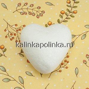 Сердце маленькое из пенопласта, размер 37х36х20мм