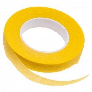 Флористическая лента (тейп лента), ширина 12мм, цвет желтый., Флористическая лента (тейп лента), ширина 12мм, цвет желтый
