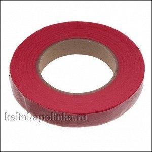 Флористическая лента (тейп лента), ширина 12мм, цвет красный., Флористическая лента (тейп лента) , ширина 12мм, цвет красный