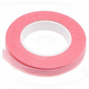 Флористическая лента (тейп лента), ширина 12мм, цвет розовый., Флористическая лента (тейп лента), ширина 12мм, цвет розовый