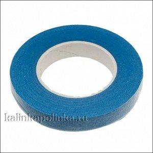 Флористическая лента (тейп лента), ширина 12мм, цвет синий., Флористическая лента (тейп лента), ширина 12мм, цвет синий