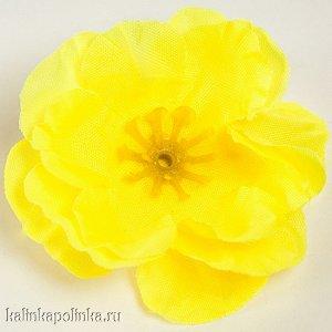 Цветы из ткани, цвет желтый, р-р цветка ок. 4.5см