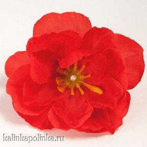 Цветы из ткани, цвет красный, р-р цветка ок. 4.5см