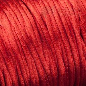 Атласный шнур для браслетов красная нить, толщина 2мм
