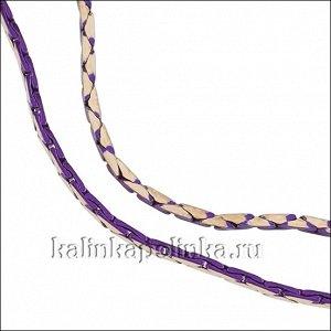 Латунная цепочка с паяными звеньями, якорное плетение, обточенная, сиреневое покрытие, р-р 1мм, продается отрезками по 1м