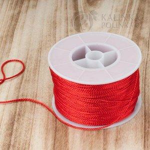 Нить синтетическая крученая, цвет красный, толщина 1,2мм.