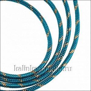 Прочная латунная цепочка, плетение змейка, в голубую полоску, толщина 1мм, продаётся отрезками по 70см