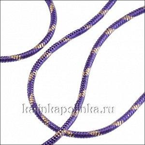 Прочная латунная цепочка, плетение змейка, в сиреневую полоску, толщина 1мм, продаётся отрезками по 70см