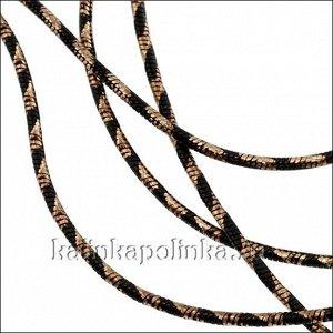 Прочная латунная цепочка, плетение змейка, в черную полоску, толщина 1мм, продаётся отрезками по 70см