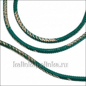 Прочная латунная цепочка, плетение змейка, квадратная, бирюзовое покрытие, р-р 1.3мм, продаётся отрезками по 70см