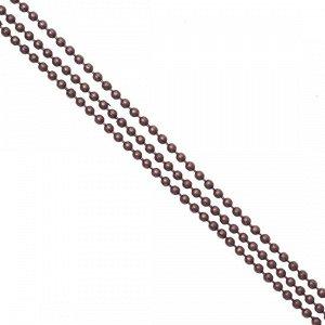 Цепочка для бижутерии, железная, шариковая, цвет медь, р-р 1.5мм