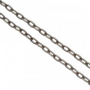 Цепочка для бижутерии, железная, якорное плетение, рифленая, цвет бронза, р-р 4х2.7х0.6мм