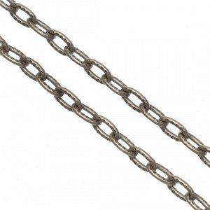 Цепочка для бижутерии, железная, якорное плетение, рифленая, цвет бронза, р-р 7х4х1мм