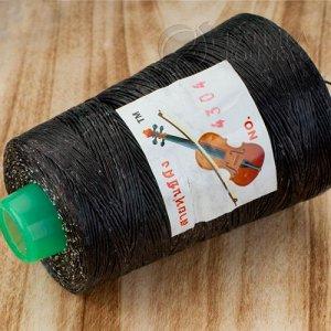 Шнур полиэстеровый, обработанный воском, цвет черный, толщина 1мм