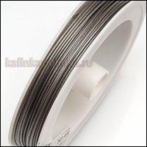 Ювелирный тросик, ланка, цвет платина, сечение 0.7мм