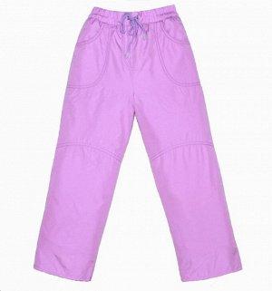 Брюки для девочек на флисе (DEWSPO PU MILKY подкладка FLEECE 180, цвет:Светло-сиреневый) 7080 32\128