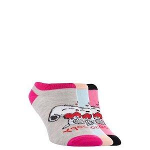 Комплект носочков для девочки со Снуппи 3 пары