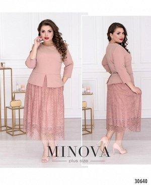 Платье №344-розовый