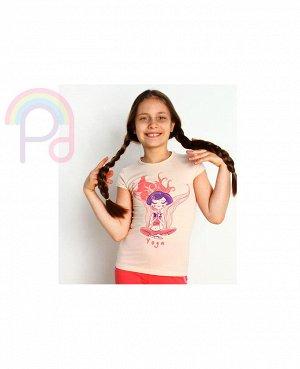 Нежная футболка девочке на 6-7 лет