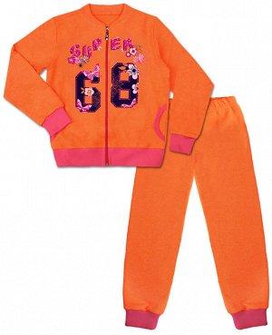 Костюм спортивный для девочки Цвет: оранж+малина
