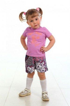 Шорты Шорты детские для девочек и мальчиков, расцветки в ассортименте из кулирки