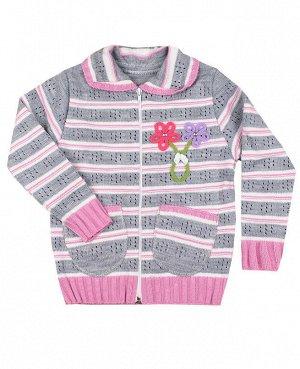 Вязаная кофта для девочки Цвет: серый