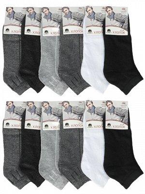 D14 носки мужские 42-48  (12шт.) цветные