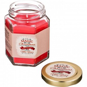 Ароматическая свеча в банке 'magic' диаметр=7 см. высота=9 см. цвет красный