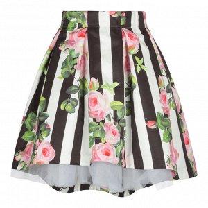 Прекрасная юбка на новый год. STIL/Юбка ЮБ-1425-72  Цветочный сад