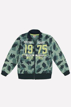 Куртка для мальчика Crockid К 300245 хаки на милитари к118