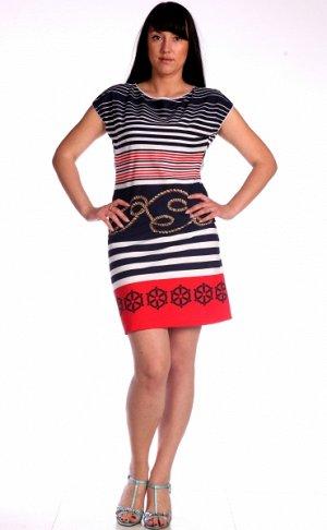М370 Платье без рукавов, ажурная резинка, кулирка 44-54,Состав:-100 % хлопок