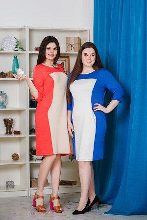 М441 Платье с центральной вставкой, милано 44-50,Состав:65 % вискоза+30% п/э+5% эластан