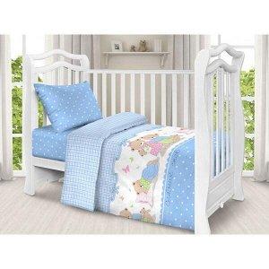 Детский комплект в кроватку Сладких снов, голубой (ТР 1703-1)