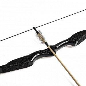 """Сувенирное оружие """"Лук фигурный"""", 170 см, деревянное, взрослый, черный, массив ясеня"""