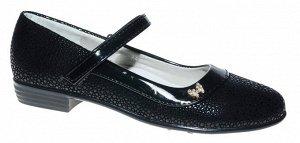 Туфли Канарейка, артикул A877-1, цвет черный, материал кожа иск