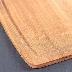 Доска разделочная из бамбука Доляна «Богатство леса», 33?24 см