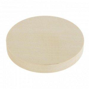 Доска круглая, липа, 12 см