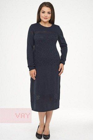 Платье женское-. Цвет т.синий