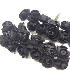 Цветы бумажные. Розы. Черный.