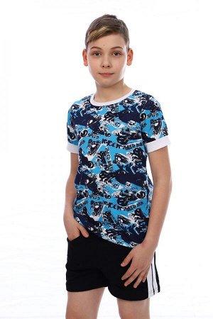 Футболка Состав: Хлопок 100 %; Материал: Кулирка Яркая летняя практичная недорогая футболка для мальчика- это отличное решение для прогулки.