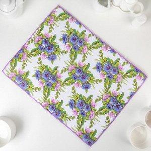 Салфетка для сушки посуды Доляна «Полевые цветы», 38?50 см, микрофибра