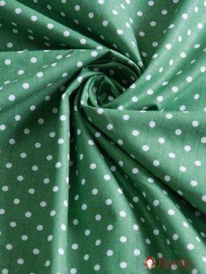 """Бязь """"Горох на зеленом папоротнике"""" хлопок-100%, 1.5 м"""