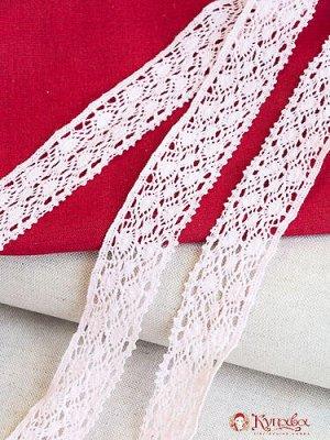 Кружево хлопок-90%, п/э-10%, 40 мм, цв.нежно-розовый
