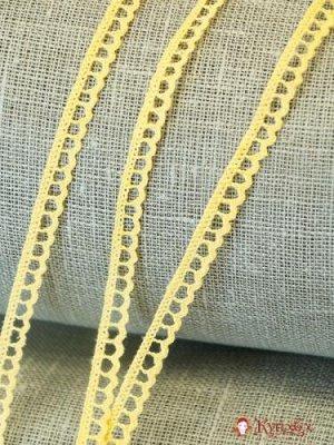 Кружево хлопок-90%, п/э-10%, 8мм, цв.светло-желтый