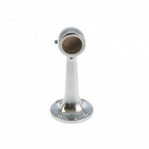 Штангодержатель для трубы, на ножке, d=25 мм, нерегулируемый, глухой, цвет хром
