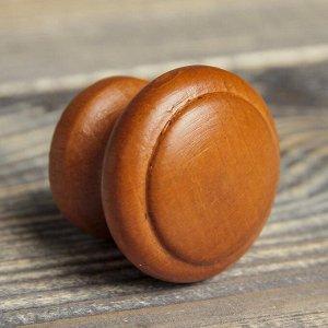 """Ручка мебельная кнопка """"Классическая"""", крашеная, цвет итальянский орех, d-35, L-30 мм"""