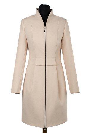 01-08406 Пальто женское демисезонное Пальтовая ткань пудра